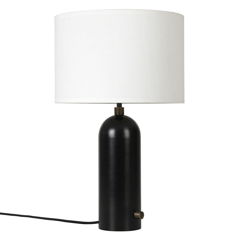 Bilde av Gubi-Gravity Bordlampe Small, Sort/ Canvas