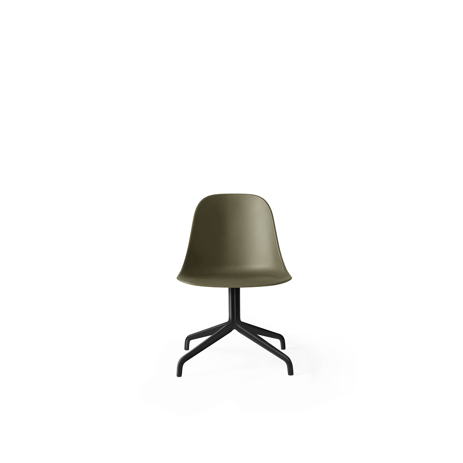 Harbour Side Chair, Black Swivel/Olive Shell