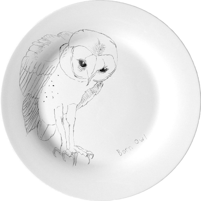 Barn Owl Assiett