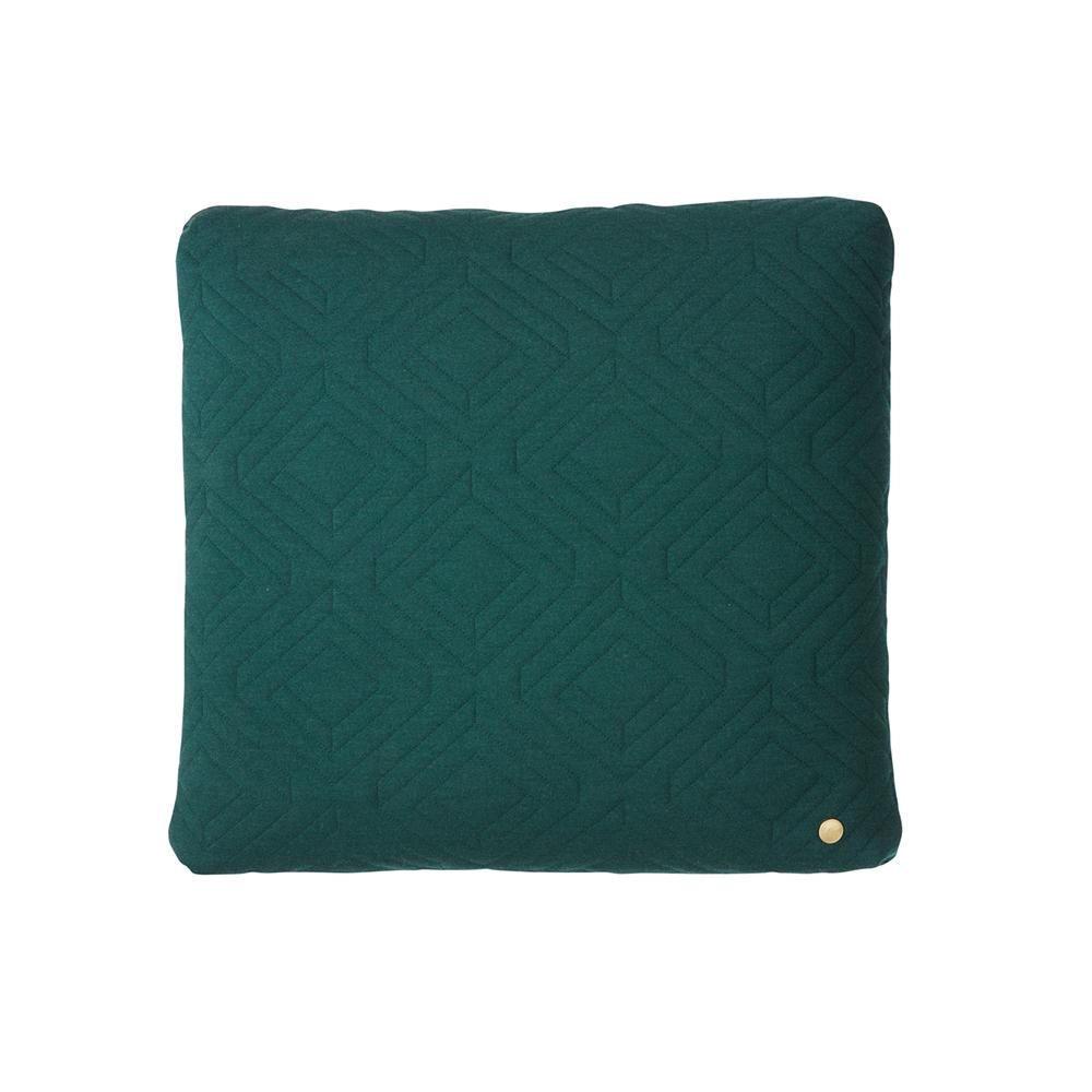 Bilde av Ferm Living-Quilt Pute 45x45cm, Mørk Grønn