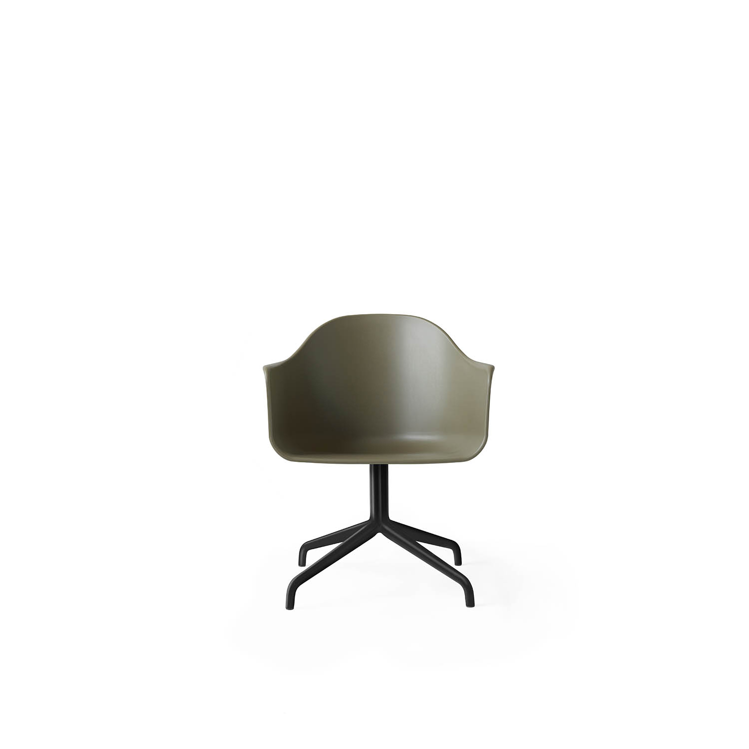 Harbour Chair, Black Swivel/Olive Shell
