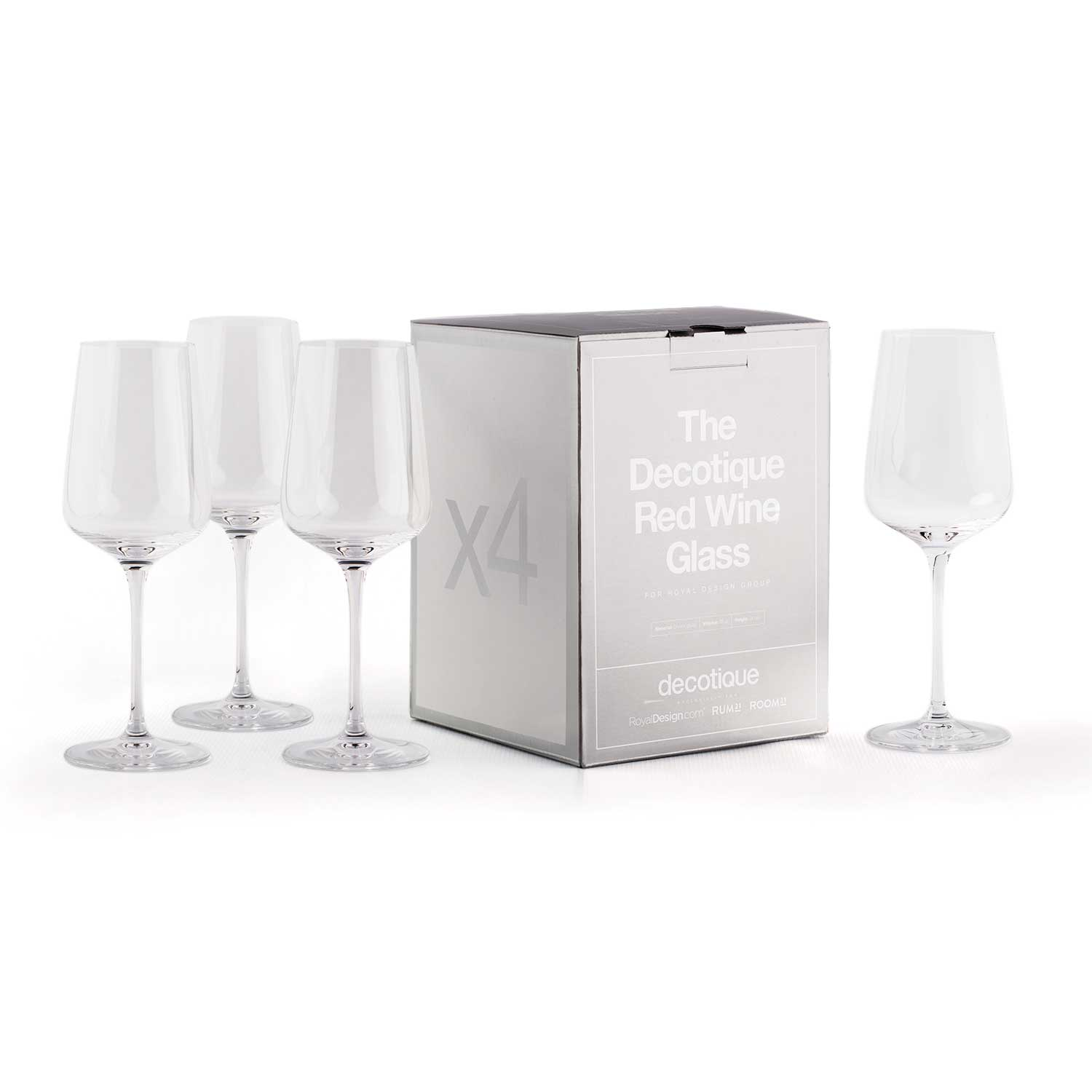Decotique Rödvinsglas 4-Pack