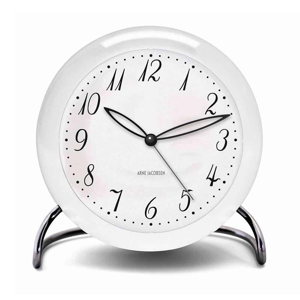 Bilde av Arne Jacobsen-AJ Bordklokke Led Alarm LK, Hvit, 11cm