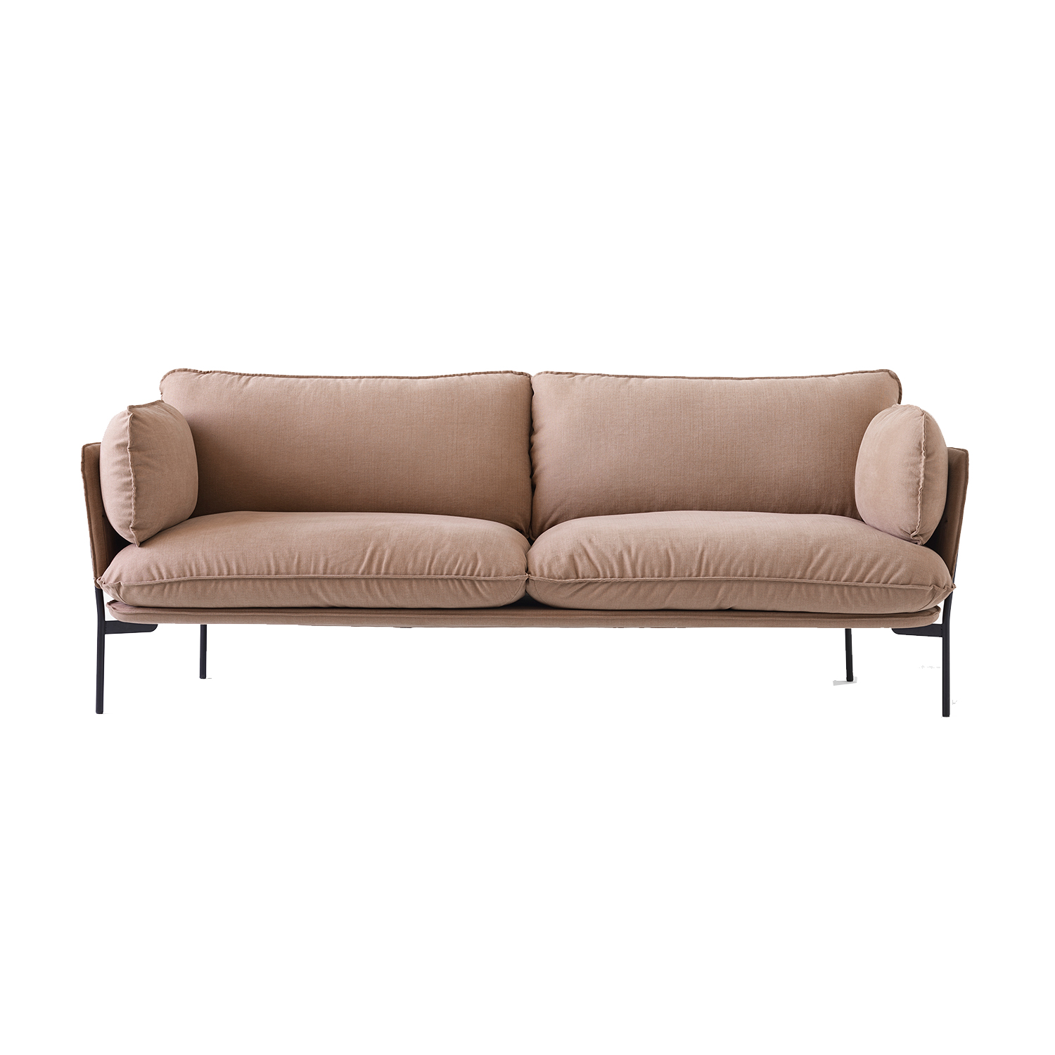 Bilde av &Tradition-Cloud 3-Seters Sofa, Svarte Bein/Hot Madison 495