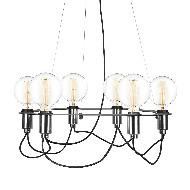 Globen Lighting-Cables Lysekrone ø60 cm, Sort/Krom