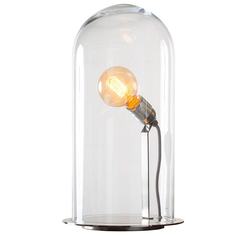 Ebb & Flow-Speak Up! Bordlampe M, Klar/Sølv