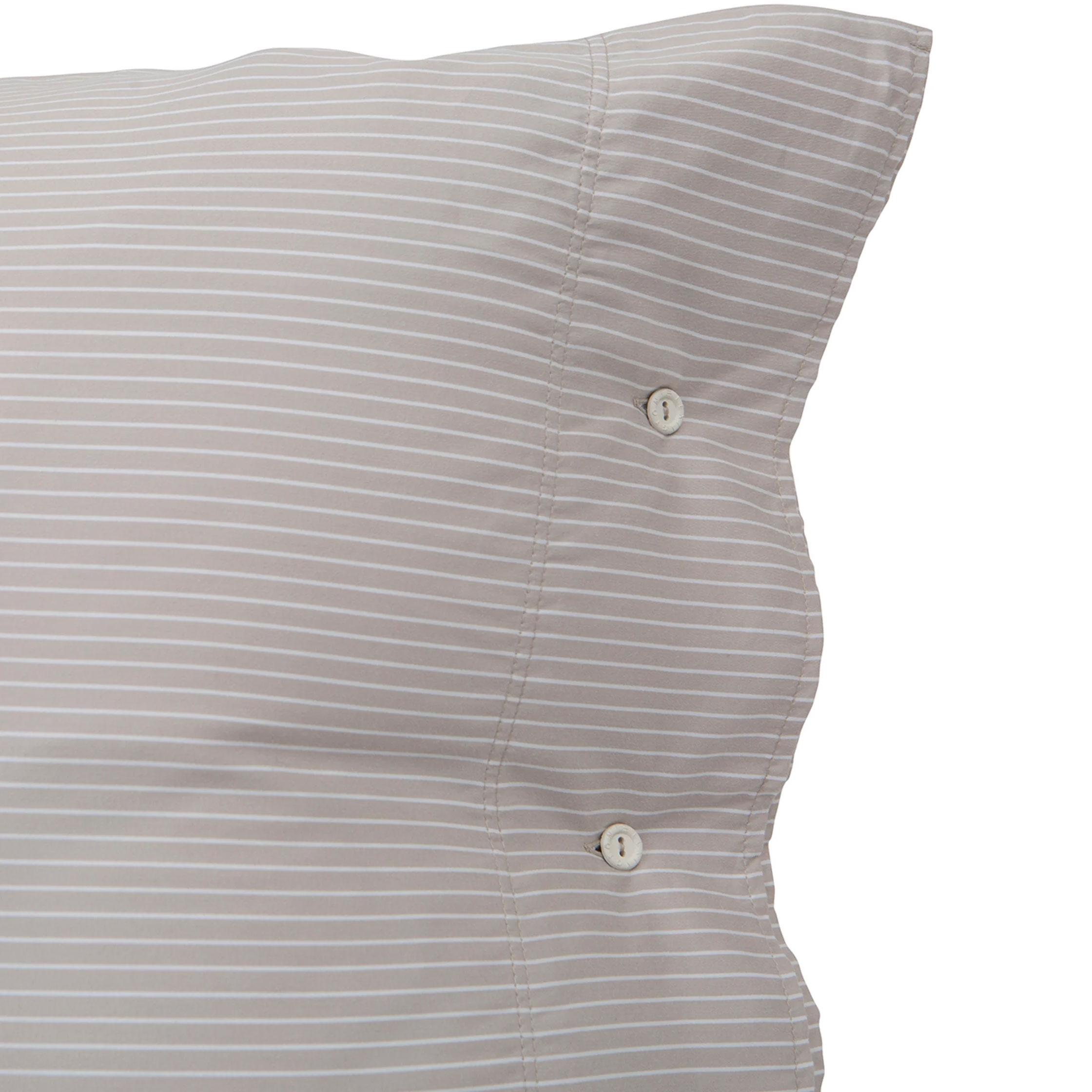 Hotel Tencel Stripe Pillowcase 65x65 cm, Beige/White