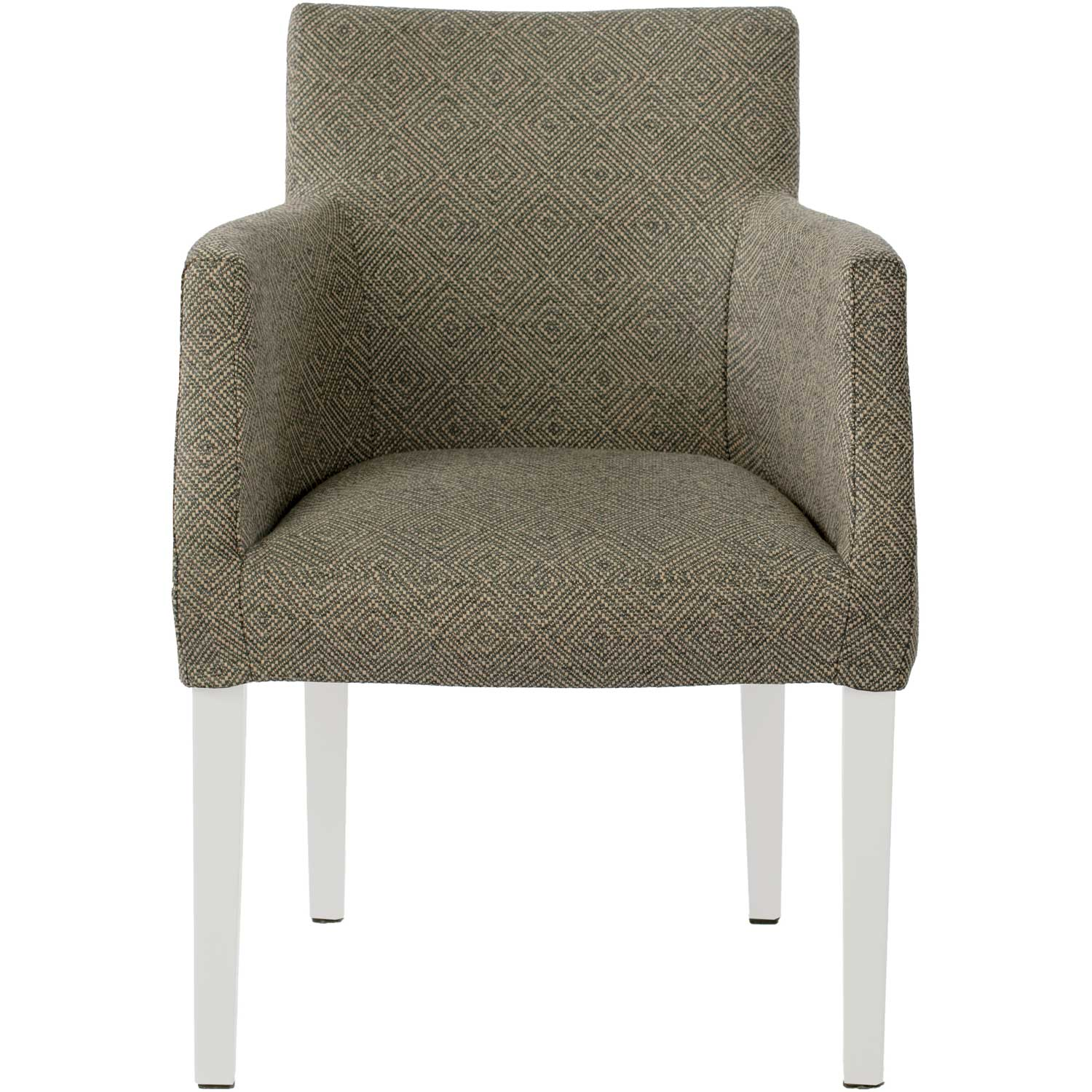 Brooklyn Chair Loose Cover, White Westray Noir 24