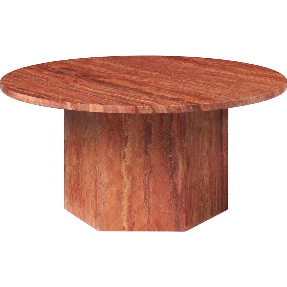 Epic Soffbord Rund Ø80 cm, Red Travertine