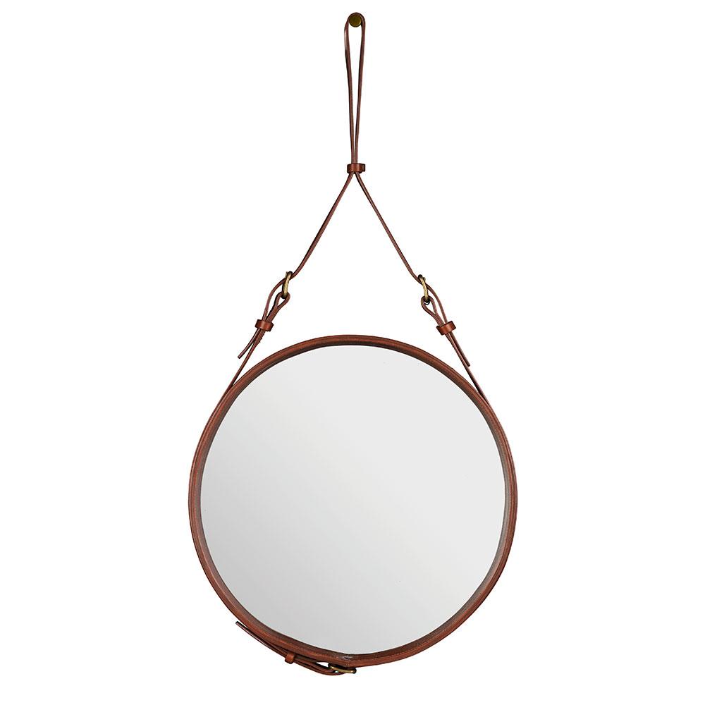 Bilde av Gubi-Adnet Speil Rund 58cm, Brun