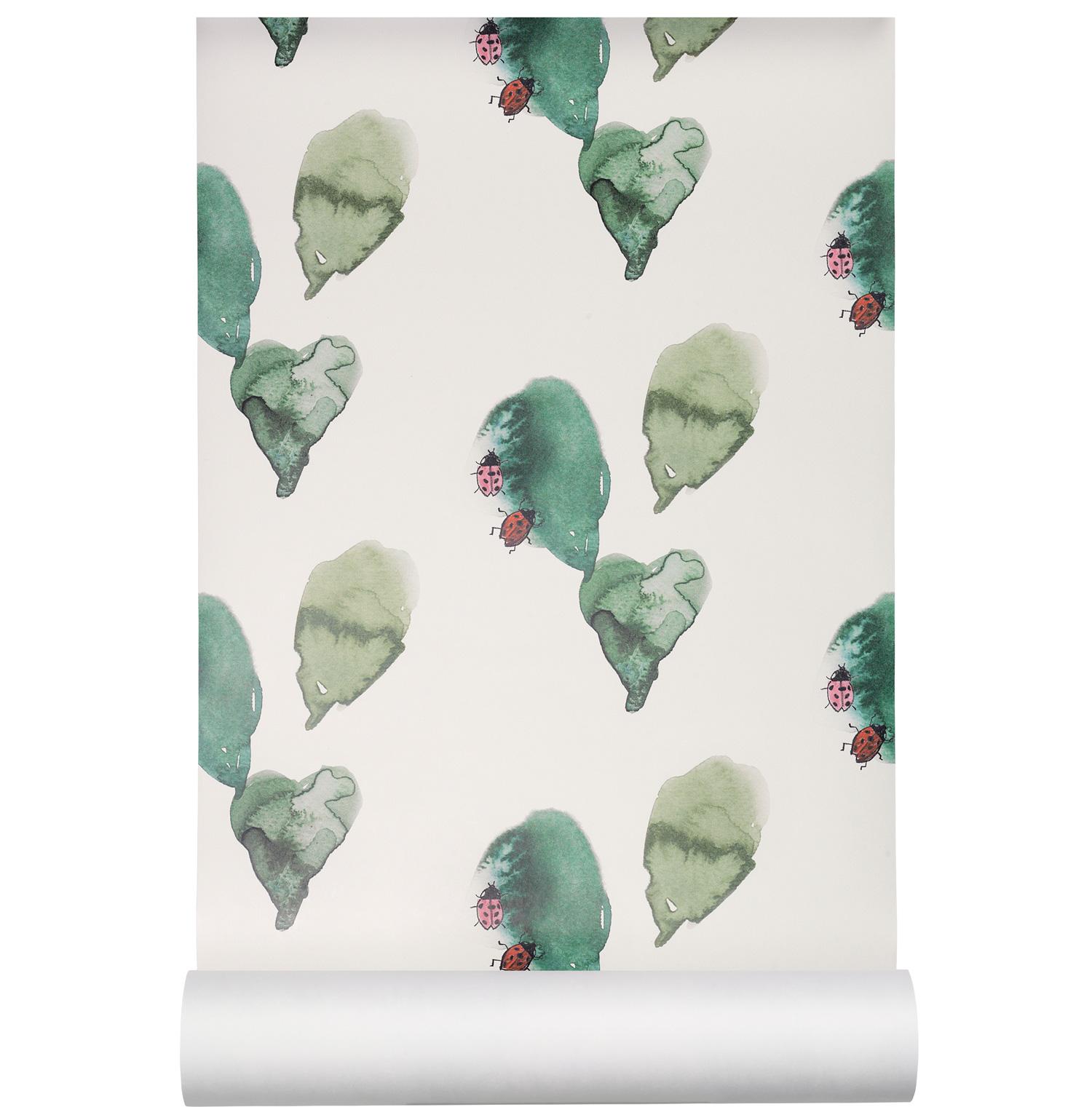 Ladybird Tapet, Grön/Vit