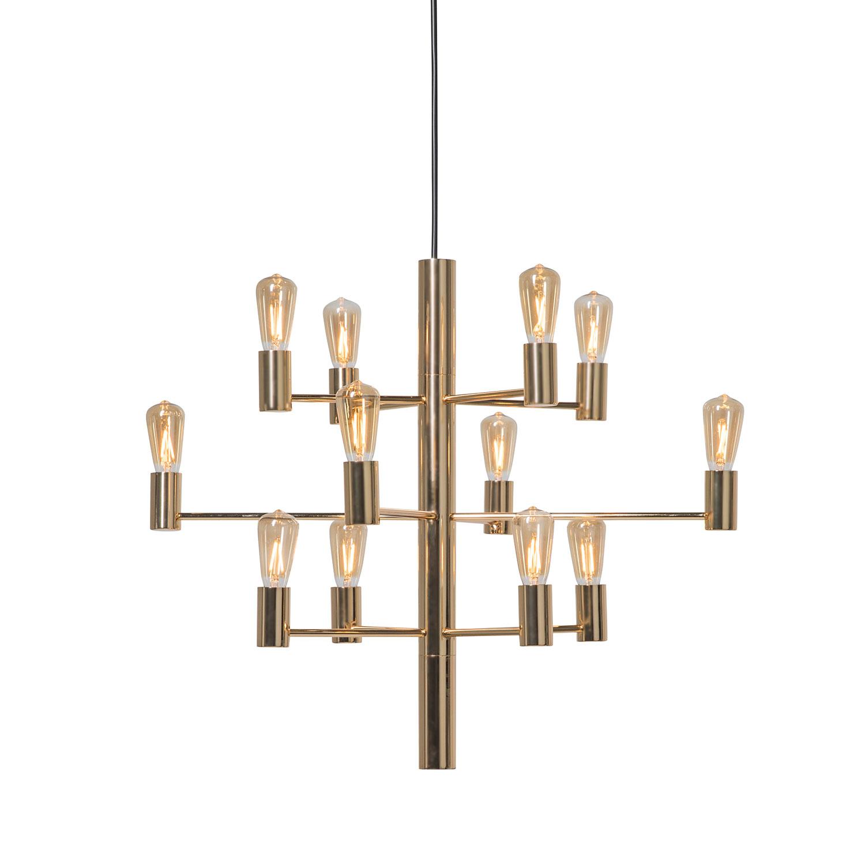 Herstal-Manola 12 Lysekrone Dæmpbar LED, Guld