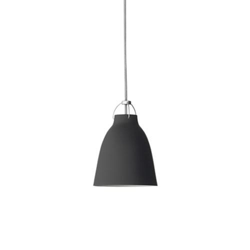 Fritz Hansen-Caravaggio Loftlampe P1 6m Ledning, Mat Sort
