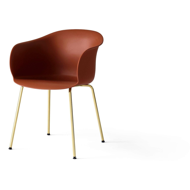 Bilde av &Tradition-Elefy Chair JH28 Brass Base / Copper Brown Cover