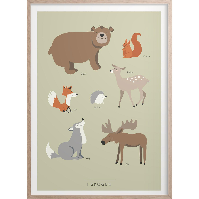 I skogen Poster, 50x70 cm