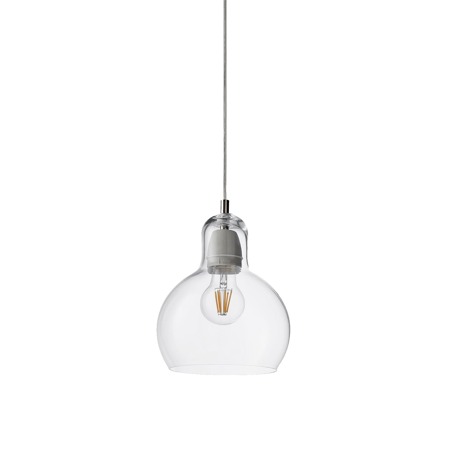 Bilde av &Tradition-Mega Bulb Transparent Glass Sr2, Transparent Ledning