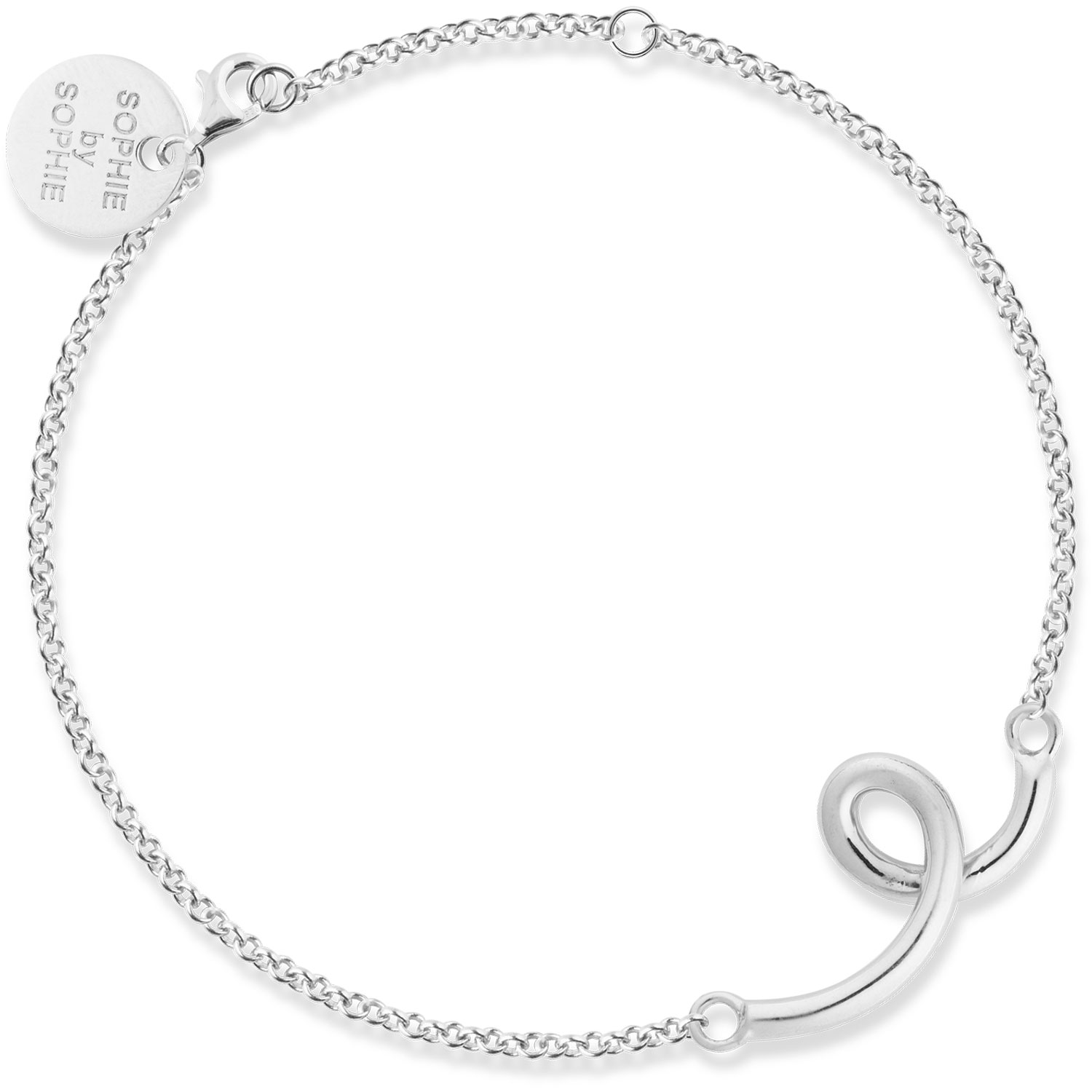 Loopy Armband, Silver