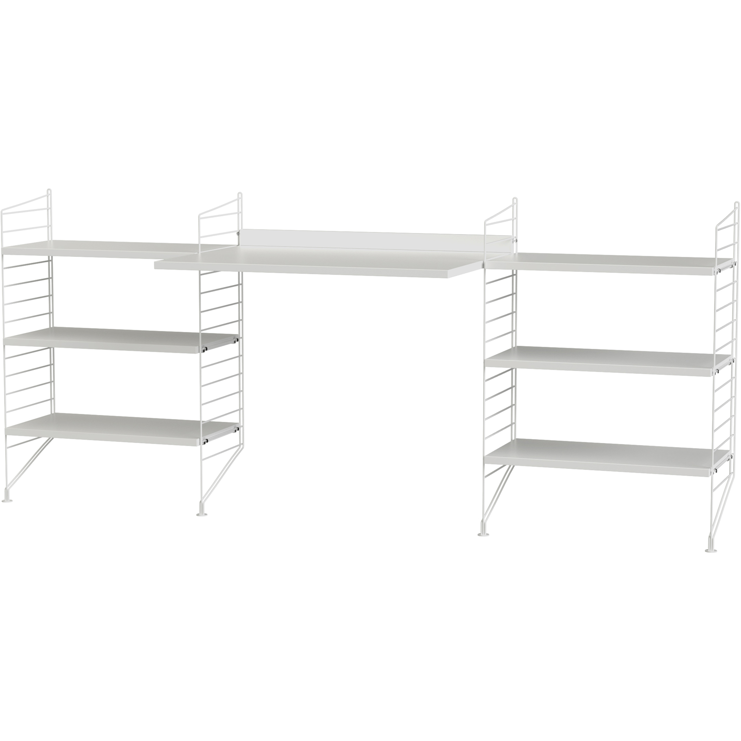 String-String Shelf Combination D Workplace, White