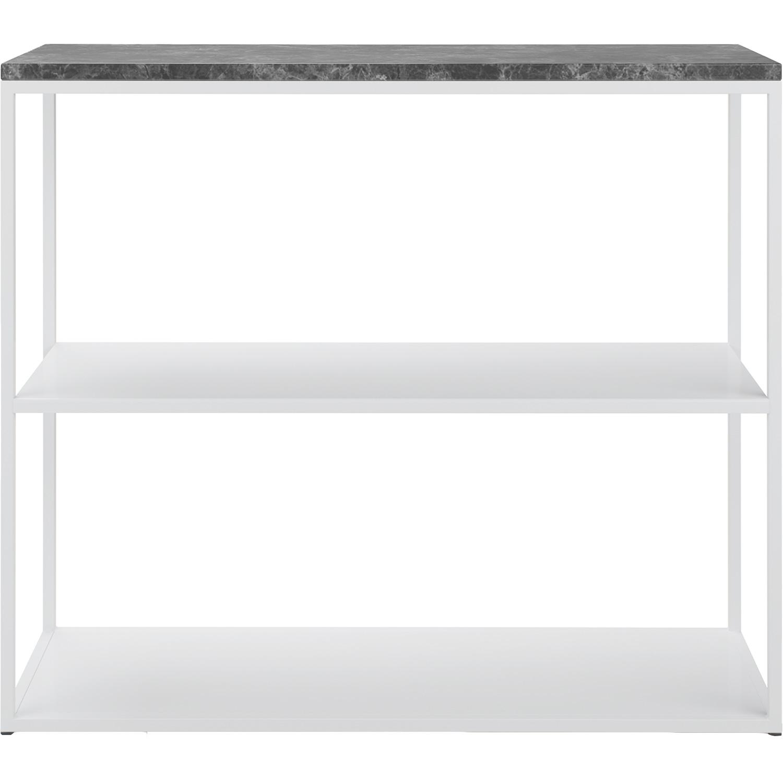 Marvelous Sideboard 90x75 cm, Vit/Grå Marmor