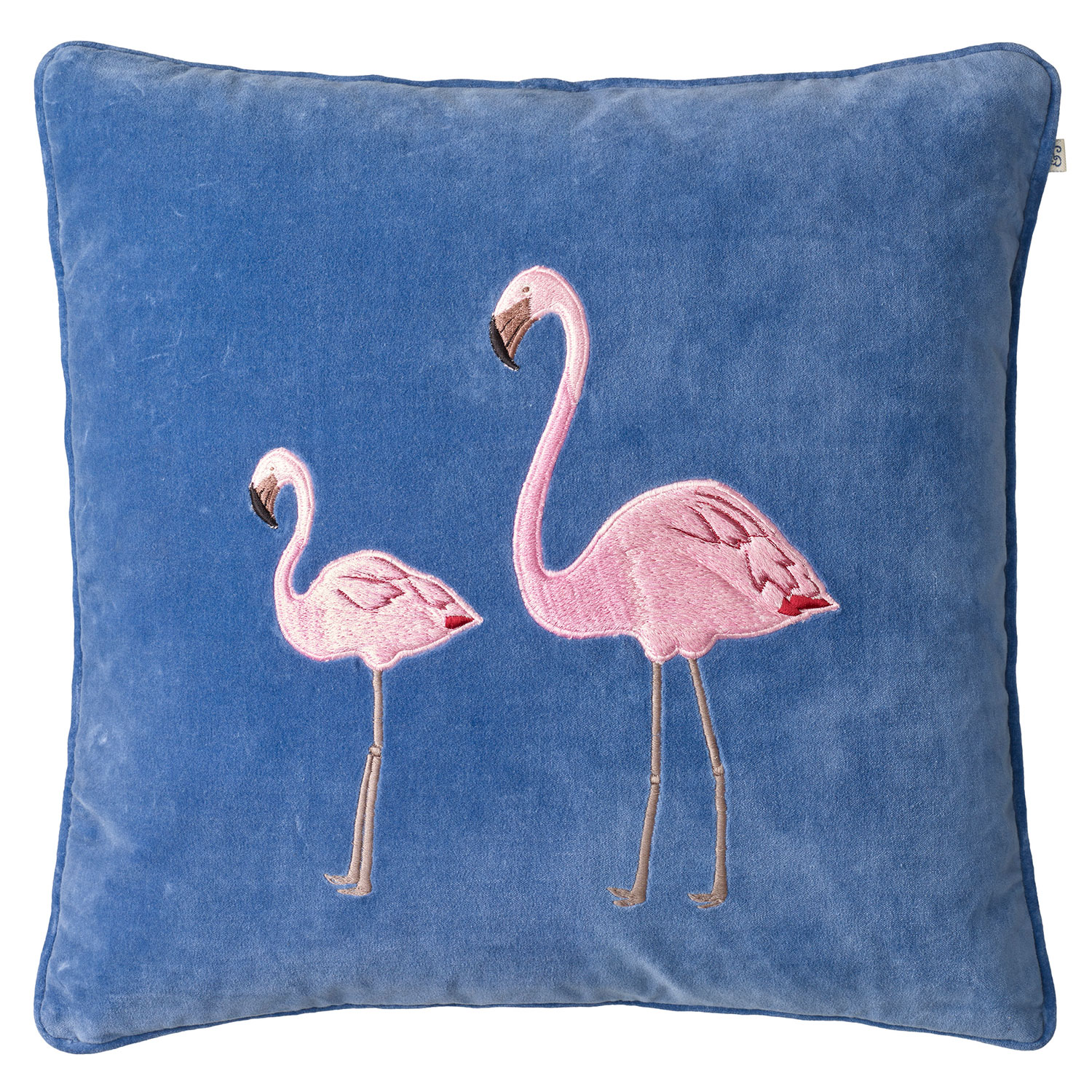 Embroidered Flamingo Kuddfodral 50x50 cm, Rivie...