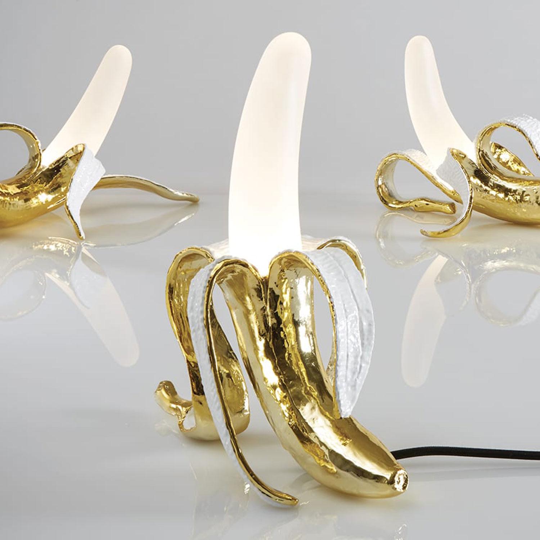 Banana Lamp Louie, Hvit Gull Seletti @ RoyalDesign.no