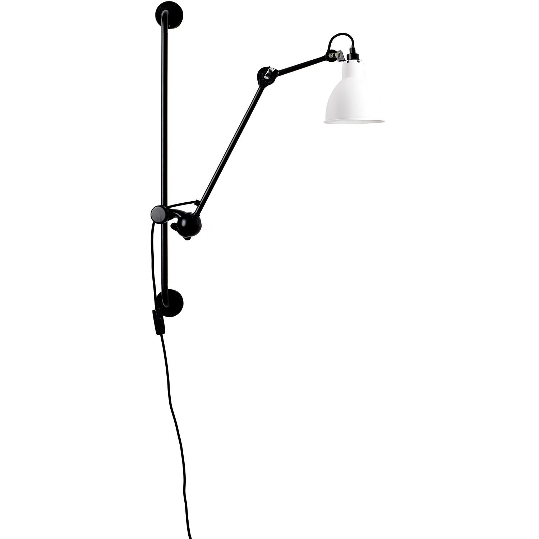 N°210 Vägglampa, Svart / Vit