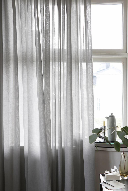 Lyx Hotellvoile Gardin 290x250 cm, Grå