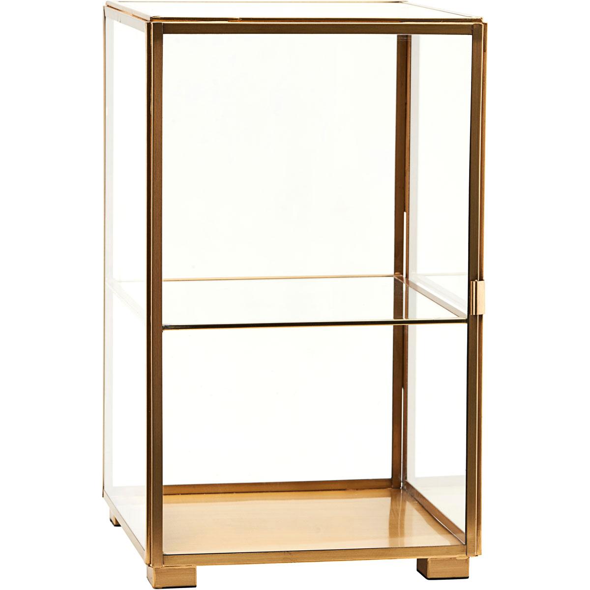 Glasskåp 41x25 cm, Mässing