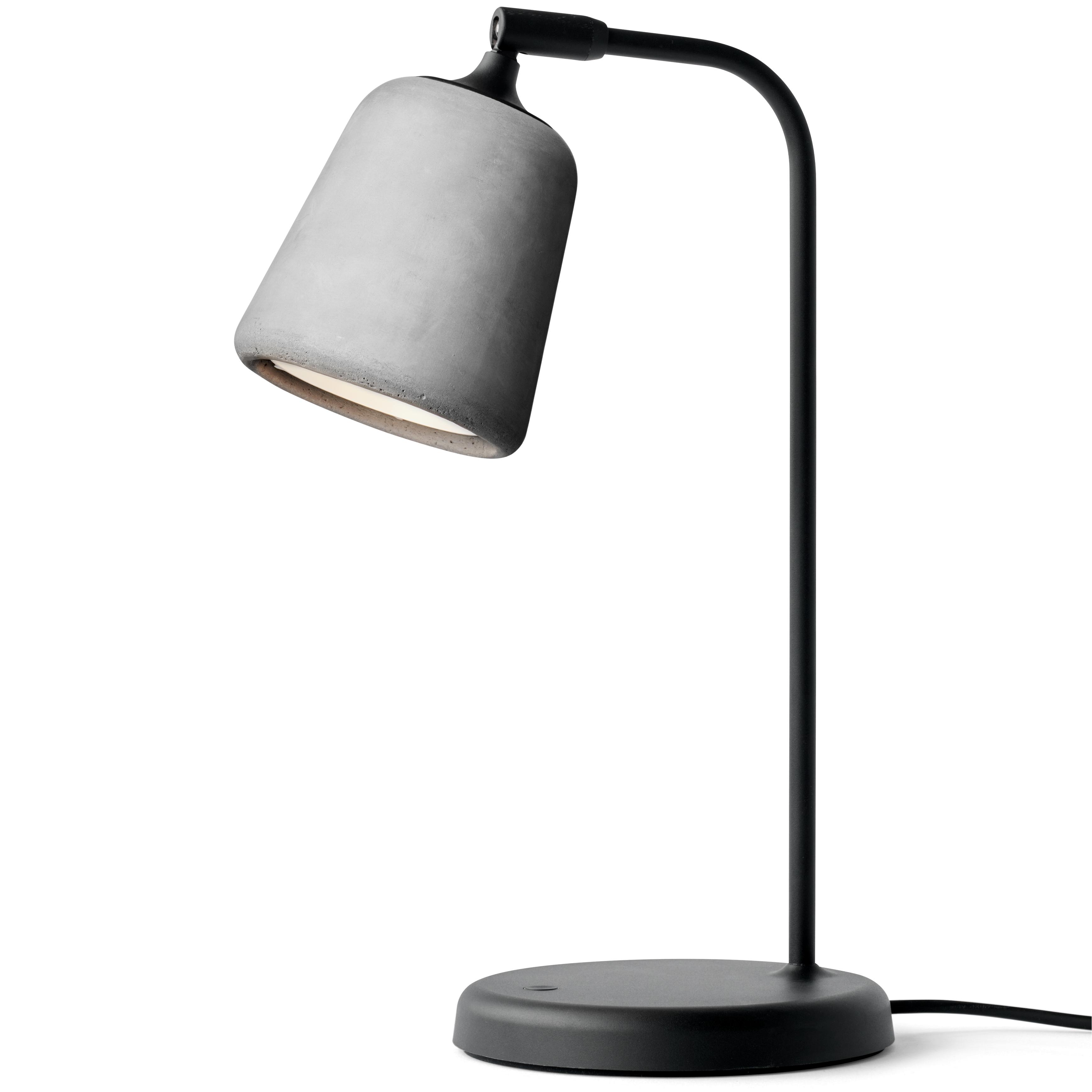 Material Bordslampa, Ljusgrå Betong
