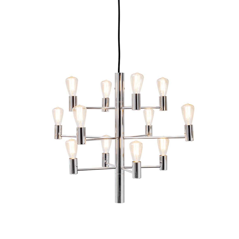 Herstal-Manola 12 Lysekrone Dæmpbar LED, Krom