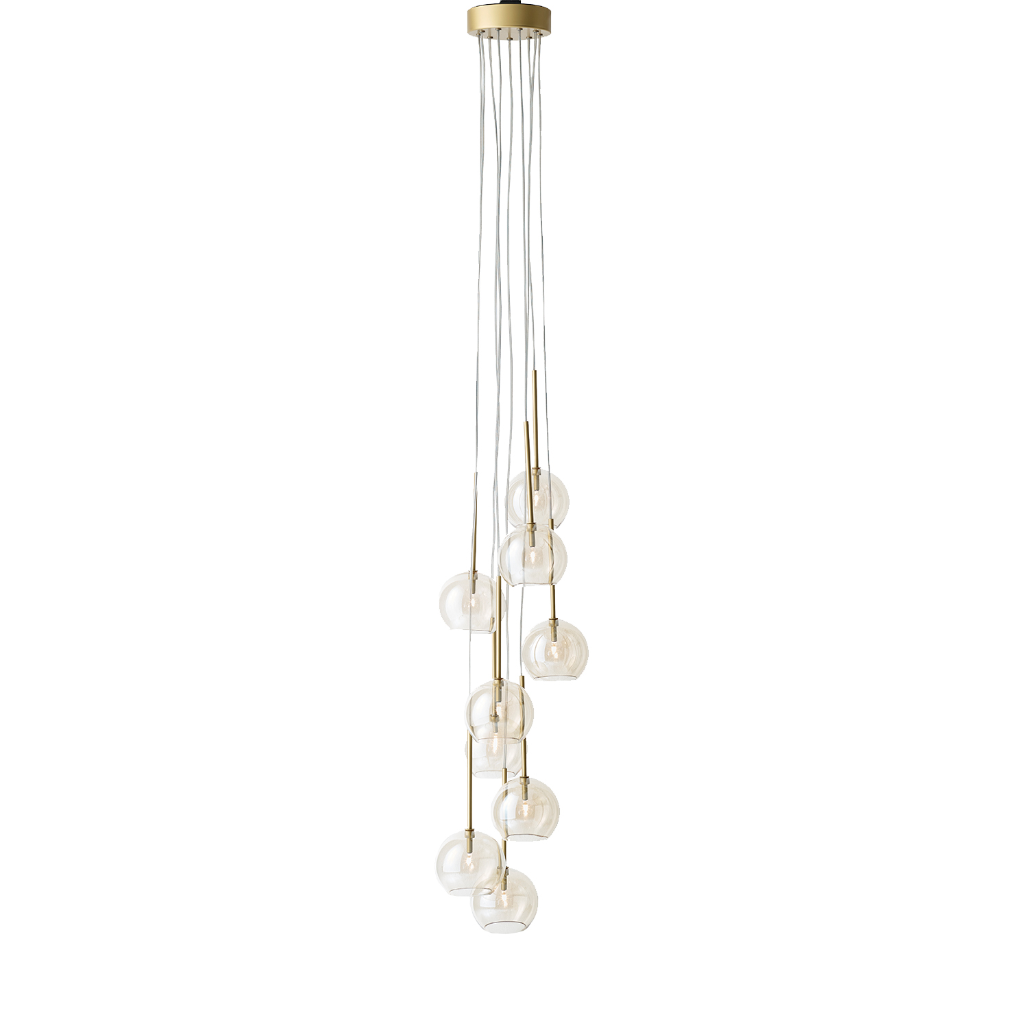 &Tradition-Ice Chandelier, Guld