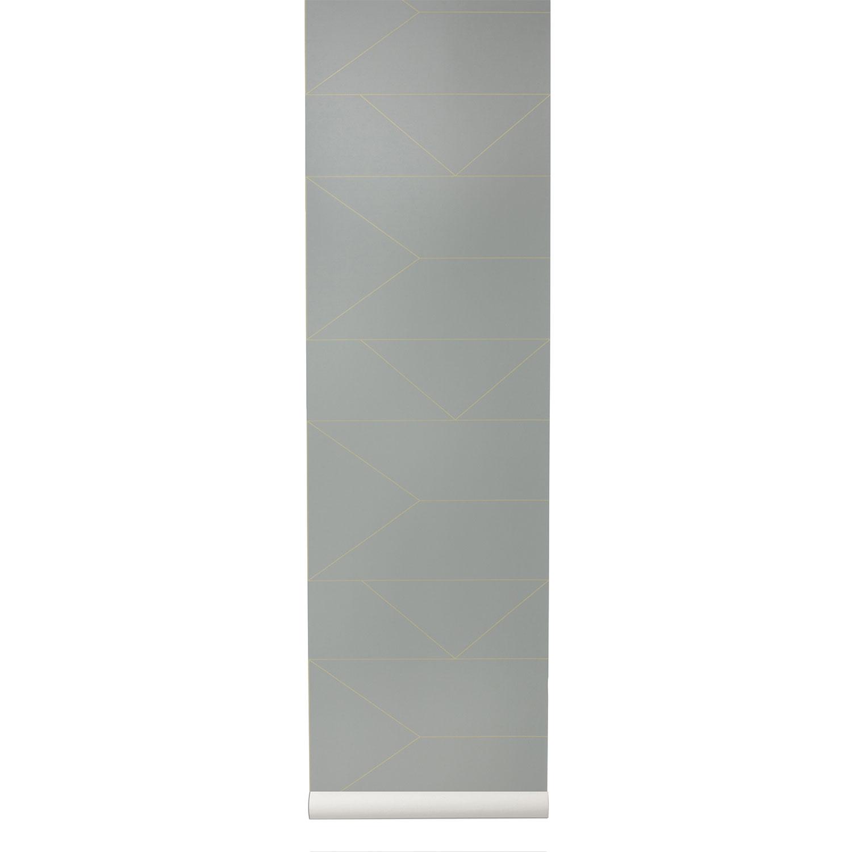 Image of Ferm Living-Lines Tapete, Grau
