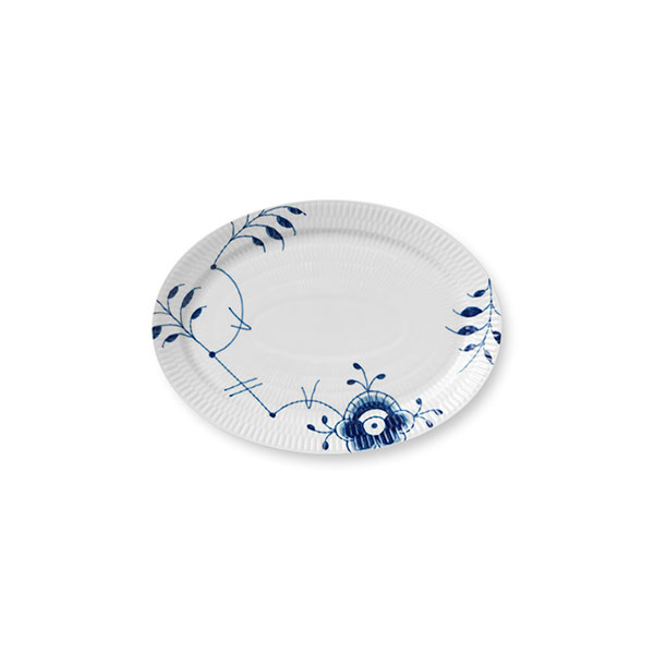 industry blue fluted plates - 600×600