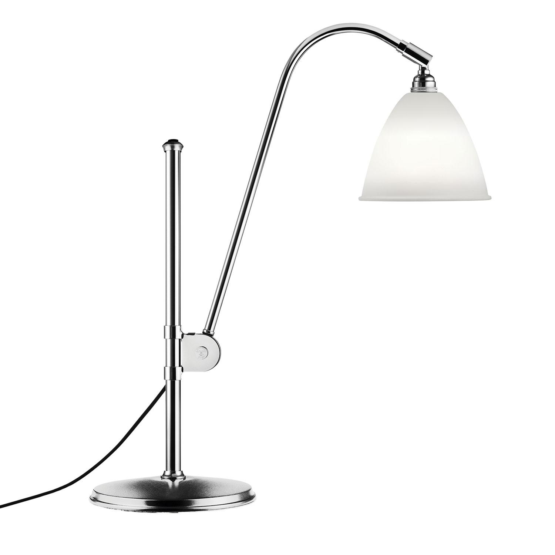 Bilde av Gubi-Bestlite BL1 Bordlampe, Krom/Benporselen