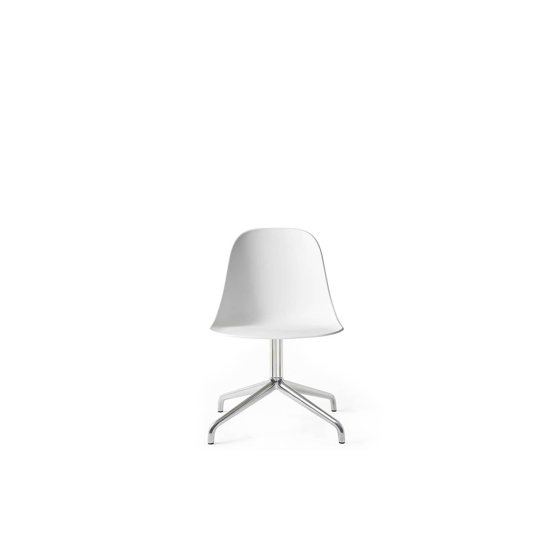 Harbour Side Chair, Alu Swivel Base/White Shell