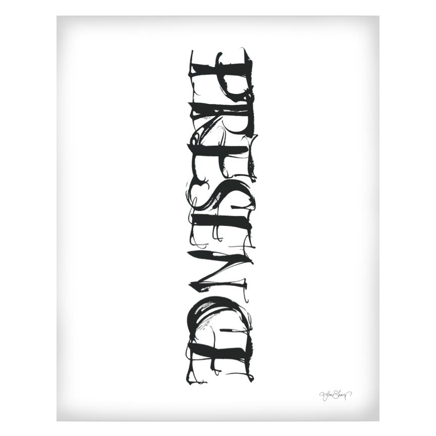 Presence Poster 50x70 cm
