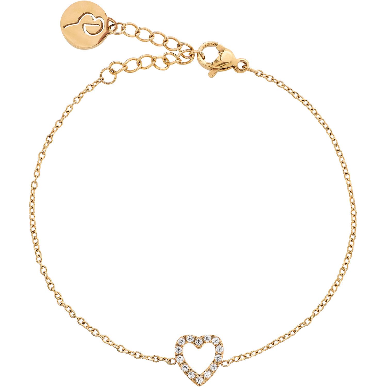 Glow Heart Armband, Guld