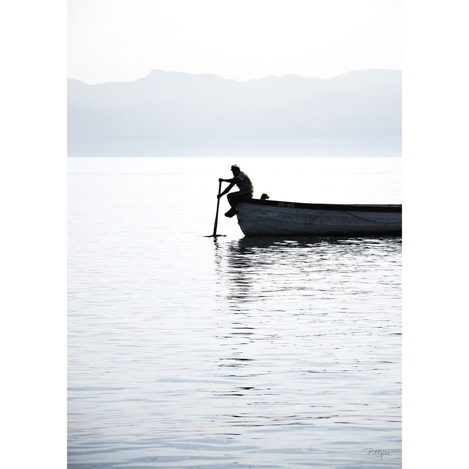 Rower On The Lake Ii Poster, 50X70