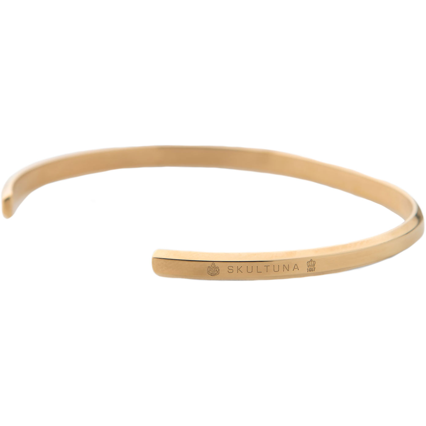 Skultuna-Icon Thin Armband Gold Plated, 65 mm