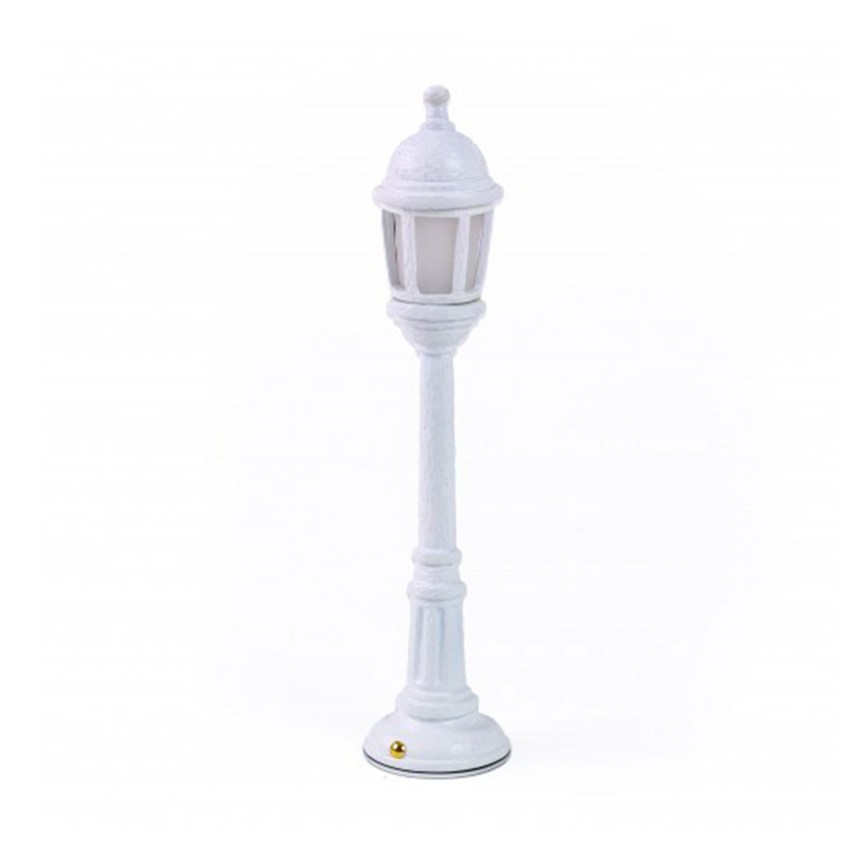 Street Lamp Dining Bordslampa i Resin, Vit