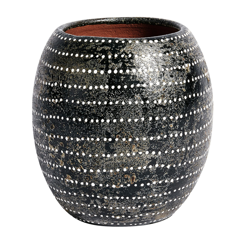 Bilde av Muubs-Ocean Vase H16cm Ø15cm, Sort