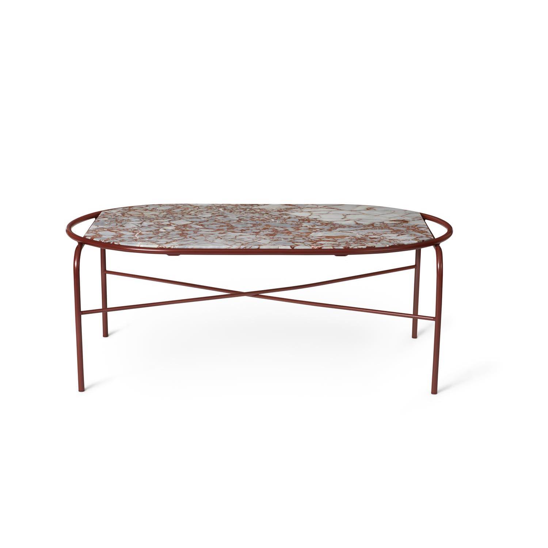 Bilde av Warm Nordic-Secant Sofabord Ovalt, Red Veined
