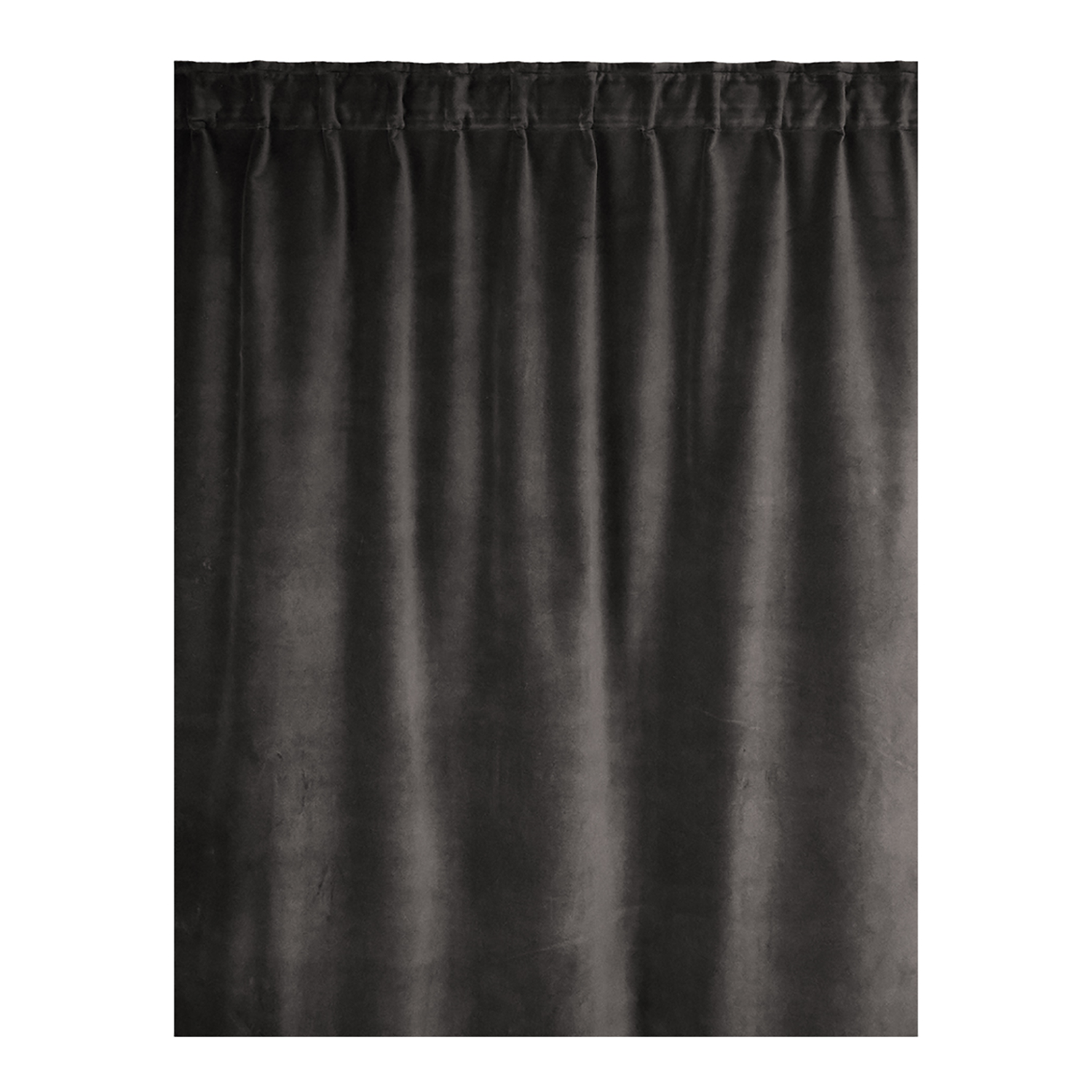 Paolo Curtain Pleat Band 135x290 cm, Dark Charcoal Grey, Linum