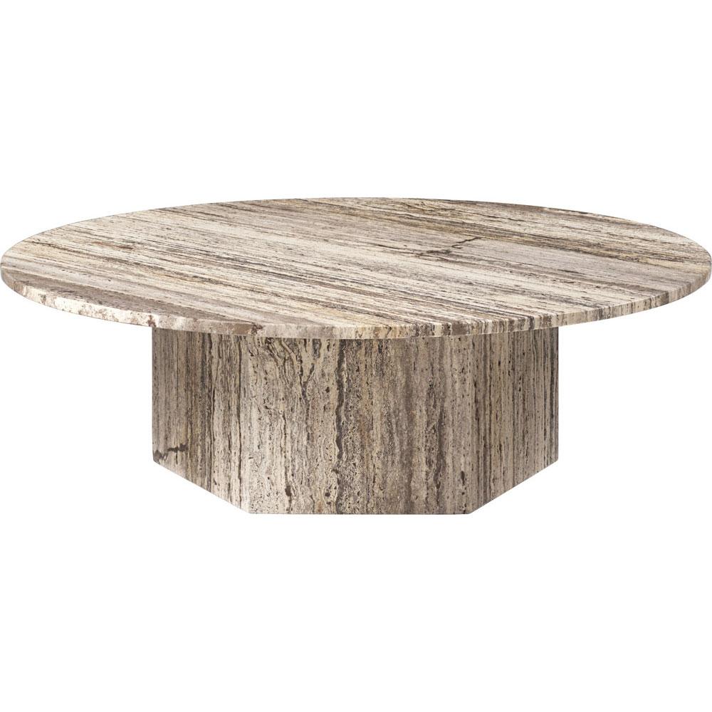Epic Soffbord Rund Ø110 cm, Grey Travertine