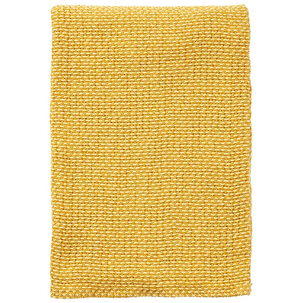 Klippan Yllefabrik-Basket Plaid 130x180 cm, Yellow