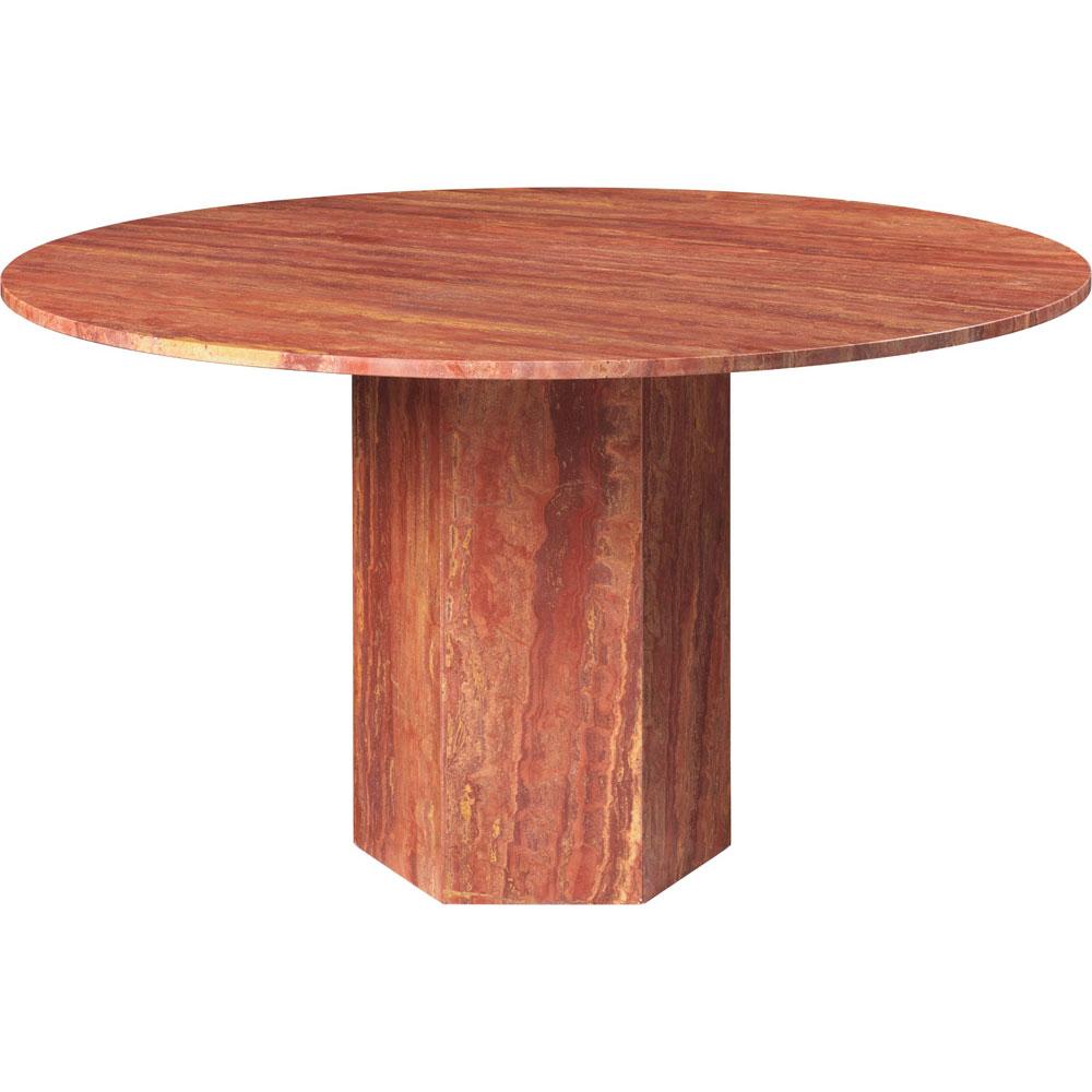 Epic Matbord Rund Ø130 cm, Red Travertine
