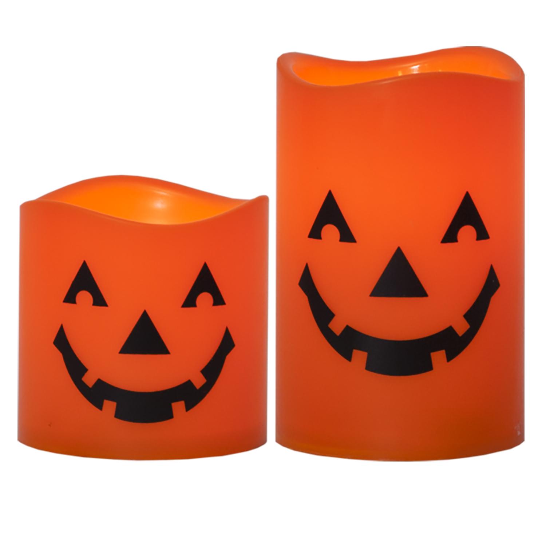 Blockljus LED Halloween, 2-pack