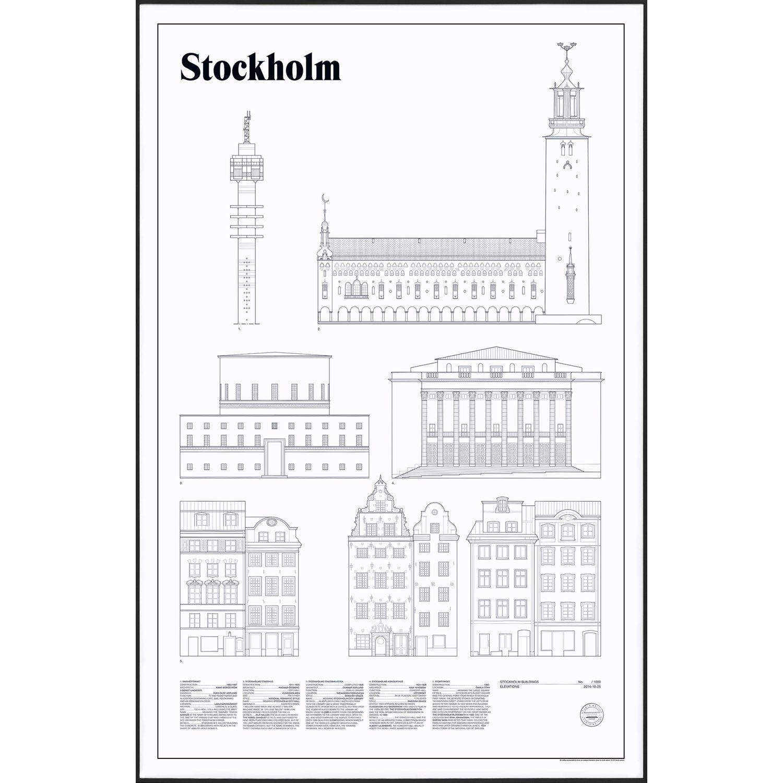 Bilde av Studio Esinam-Stockholm Elevations Poster