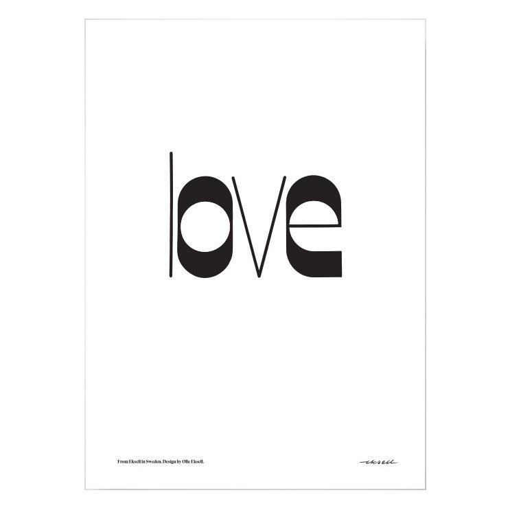 Love Poster 50x70 cm