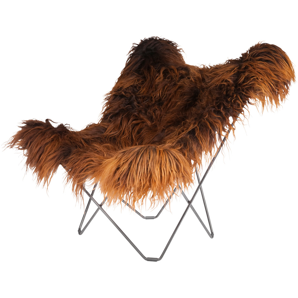 Iceland Mariposa Butterfly Chair, Wild Brown/Ch...